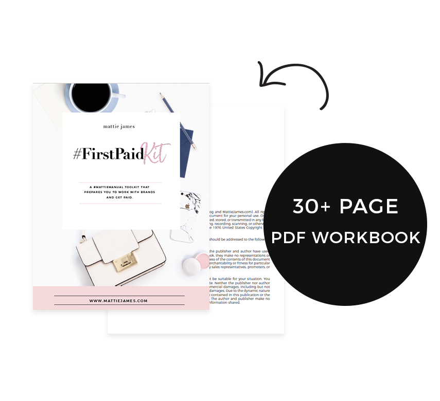 #FirstPaidKit - Learn How to Work With Brands and Get Paid