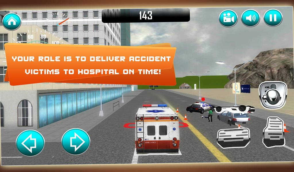 Ambulance Fire & Rescue 911 3D- screenshot