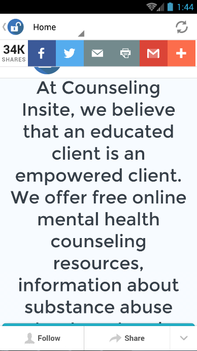 Counseling Insite- screenshot