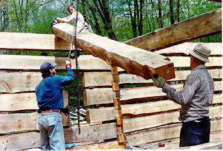 Photo: Within 3 weekends we had got the log walls up over 10 feet high