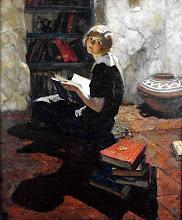 """Photo: Dean Cornwell, """"Ritratto di una giovane donna in lettura"""""""
