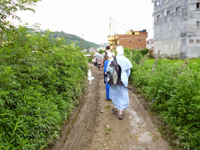 Photo: It is monsoon season in Nepal and it rained often. This was the path to the church where the conference was conducted.