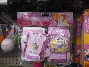 Photo: Disney Princess kneepads on clearance. Too bad we don't need them.