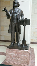 Photo: Frederick Douglass, 1818-1895.  The statue was commissioned by Congress and dedicated June 19, 2013 - http://www.aoc.gov/capitol-hill/other-statues/frederick-douglass