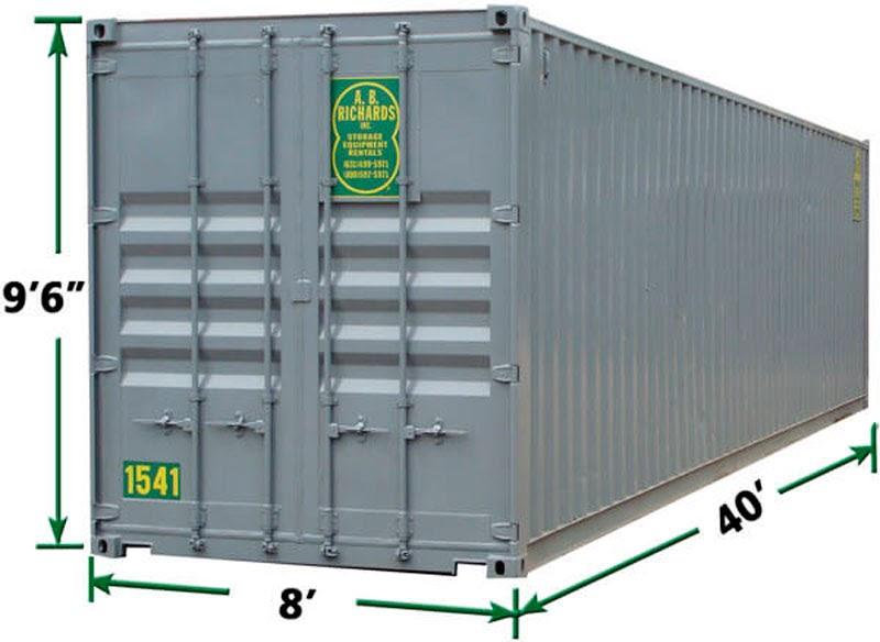 40-футовый контейнер FCL 40HQ