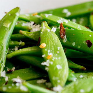 5 Minute Side - Sautéed Sugar Snap Peas with Chilli Salt.