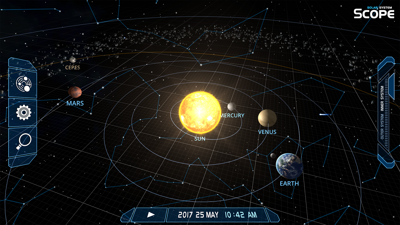 3d Solar System Live Wallpaper For Android Solar System Scope Android Apps On Google Play