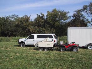 Photo: FSU Anthropology Geoprobe system, in Tennessee, at a series of low water crossings - probing deeply for buried Paleoindian or Archaic sediments. Basically it is a diesel powered soil probe/coring system.