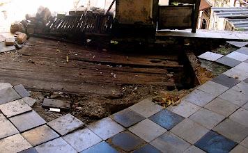 Photo: crumbling floor, cuba. Tracey Eaton photo