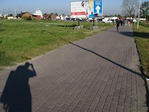Photo: Medyka - bazar jest w trakcie rozkładania, my natomiast przemieszczamy się ku przejściu granicznemu.
