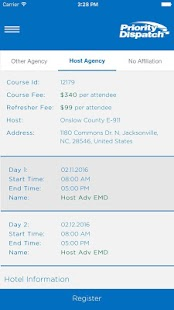 PDC Course Registration- screenshot thumbnail