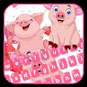 lovely kawaii fat pink piggy Keyboard icon