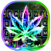 Luminous Smoke Weed Keyboard Theme