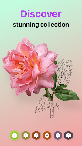 POLYGON : Coloring-Booku2219 Poly Art by Numbers Apk 2