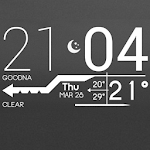 Lines Clock Free - UCCW Skin Icon