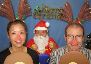 Photo: 2012 -- Ho! Ho! Ho! It's Santa & his reindeer! (I forget what our Halloween costumes were that year -- they must not have been very good!)