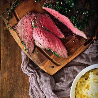 Herb Rubbed Top Round Roast Beef.