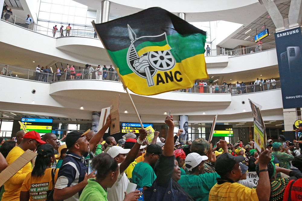 Supporters at airport vow to back Zuma until his 'last day in court' - SowetanLIVE