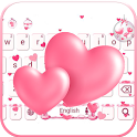 Love Keyboard theme pink love icon