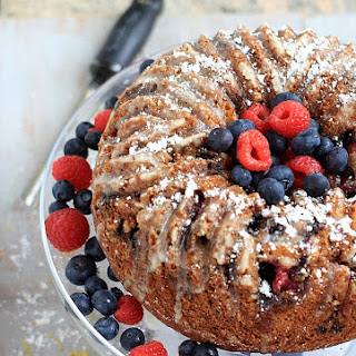 Double Berry Lemon Bundt Cake
