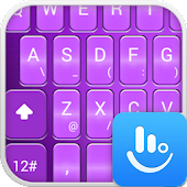 TouchPal Emoji Purple Theme