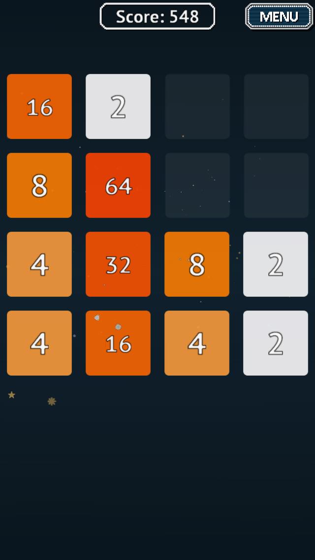 Скриншот 2048 для Android Wear