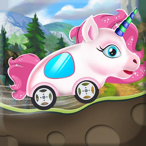 Unicorn Racing Cars Animals Vroom