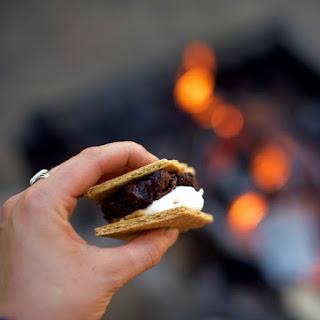 Campfire Cookie Dough Almond S'mores.