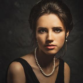 Portrait of Liana by Dmitry Baev - People Portraits of Women ( studio, beautiful, woman, portrait, eyes )
