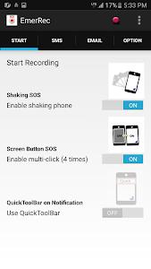 SOS Recorder :emergency alerts screenshot 1