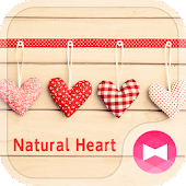 Girly Wallpaper Natural Heart Theme