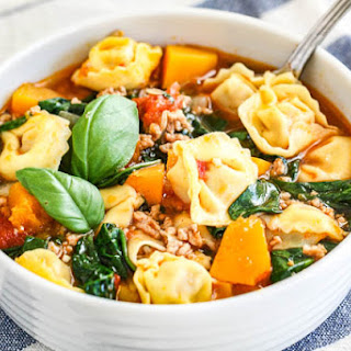 Spinach Tortellini Soup.
