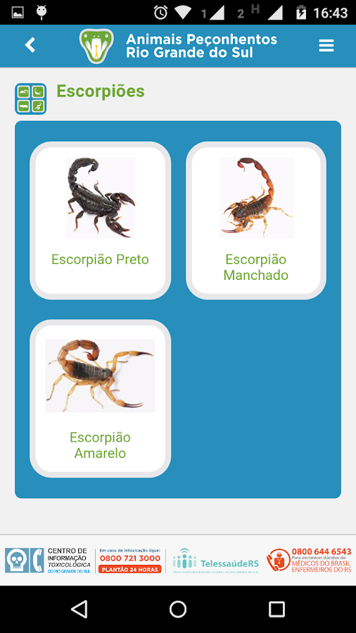 Animais Peçonhentos RS- screenshot