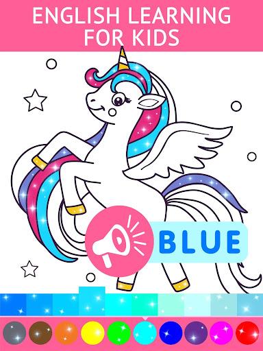 Animated Glitter Coloring Book - My Little Unicorn 10.0 screenshots 1