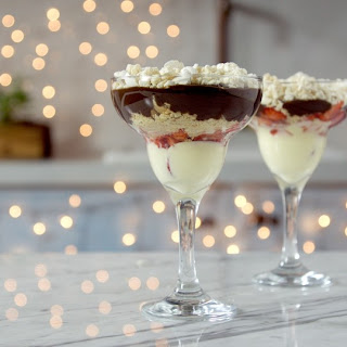 Chocolate Strawberry And Meringue Trifle