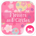 Cute Theme-Flowers and Circles icon