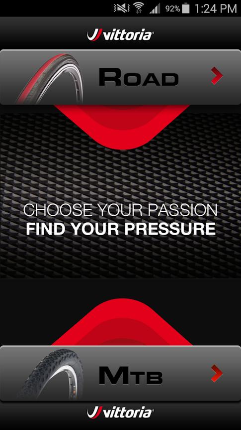 app presión ciclismo carretera