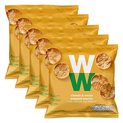 Chips med ost- och löksmak - 5-pack, 100g