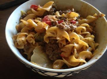 Beef and Vegetable Skillet with Queso