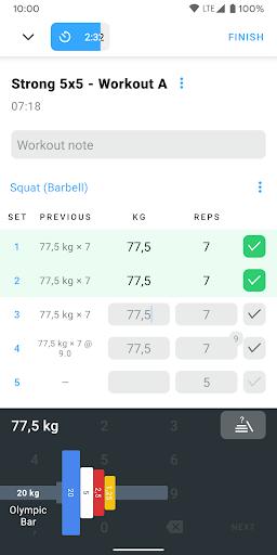 Strong - Workout Tracker Gym Log 2.3.1 screenshots 2