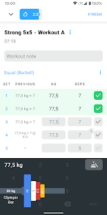 Strong: Exercise Gym Log, 5x5 Mod