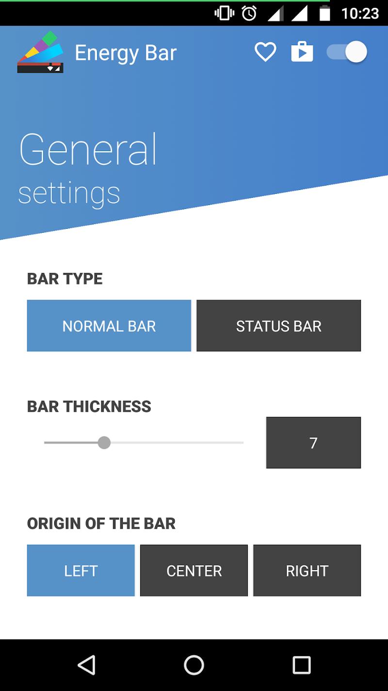 Energy Bar - A pulsating Battery indicator! Screenshot 1