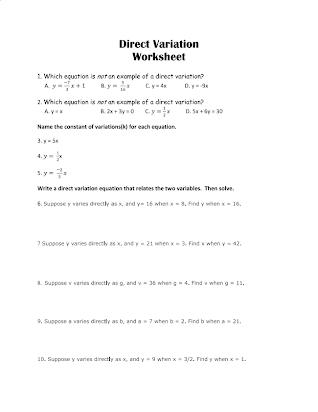 Direct-variation-worksheet-friday-hw