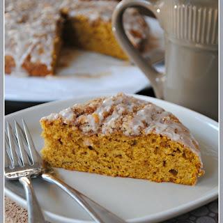 Pumpkin Coffee Cake with Cinnamon Struesel