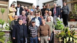 Representantes de las asociaciones de afectados por el urbanismo en la reunión mantenida días atrás en Córdoba.