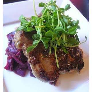 Pork Chops With Red Cabbage.