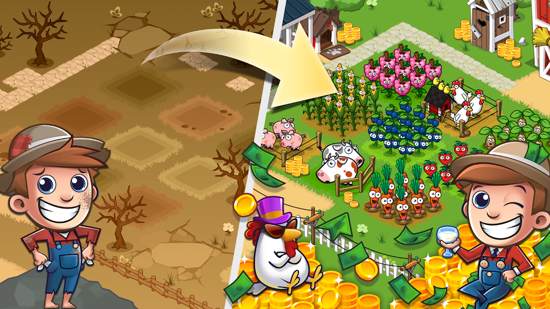 Idle Farming Empire Android App Screenshot