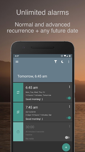 Screenshot for Alarm Clock for Heavy Sleepers — Smart Math & Free in United States Play Store