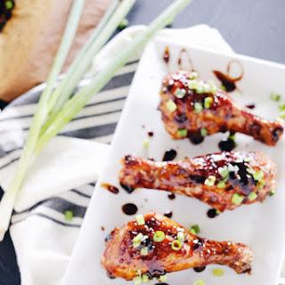 Balsamic Glazed Chicken Drumsticks (Paleo + GF)
