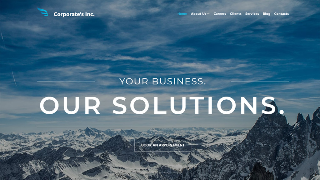 modelo de site corporate inc